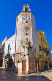 Clocktower. Monopoli. Puglia. Italy. Royalty Free Stock Photo