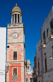 Clocktower. Noci. Puglia. Italy. Royalty Free Stock Photography