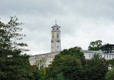 Clocktower. Nottingham university Clock tower next to Highfields park Stock Image