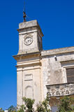 Clocktower. Palmariggi. Puglia. Italy. Stock Photos