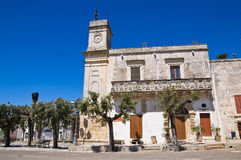 Clocktower. Palmariggi. Puglia. Italy. Royalty Free Stock Photos