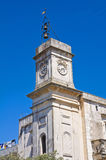 Clocktower. Palmariggi. Puglia. Italy. Stock Photography