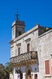 Clocktower. Palmariggi. Puglia. Italy. Stock Image