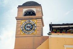 Clocktower on Piazza Umberto I, Capri, Italy Stock Photography