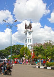 Clocktower przy Bukittinggi, Zachodni Sumatra obraz royalty free