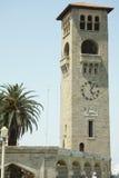 Clocktower in Rhodes old market. Ancient clocktower in Greece Rhodes old market royalty free stock photos