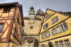 Clocktower of Rothenburg, Germany Stock Photography