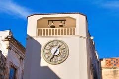 Clocktower Rutigliano La Puglia L'Italia Fotografia Stock