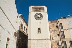 Clocktower Rutigliano Puglia Italia Imagen de archivo