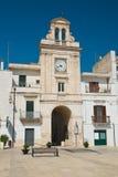 Clocktower. Sammichele di Bari. Puglia. Italy. Stock Image