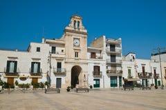 Clocktower. Sammichele di Bari. Puglia. Italy. Clocktower of Sammichele di Bari. Puglia. Italy royalty free stock photos