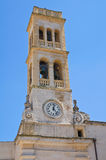 Clocktower. Specchia. Puglia. Italy. Royalty Free Stock Photography