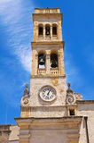 Clocktower. Specchia. Puglia. Italy. Royalty Free Stock Image
