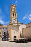 Clocktower. Specchia. Puglia. Italy. Stock Photo