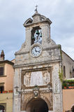 Clocktower. Sutri. Lazio. Italy. Stock Photo