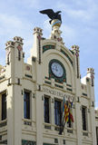 Clocktower to North Station in Valencia, Spain Royalty Free Stock Photos