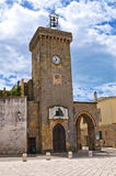 Clocktower. Ugento. Puglia. Italy. Stock Photos