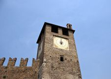 Clocktower, Vérone, Italie Photos stock