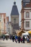 Clocktower van Speyer, Duitsland Royalty-vrije Stock Afbeeldingen
