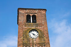 Clocktower. Vigolo Marchese. Emilia-Romagna. Italy Royalty Free Stock Photo
