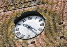 Clocktower. Vigolo Marchese. Emilia-Romagna. Italy. Royalty Free Stock Image
