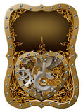 Clockwork машины зацепляет концепцию сердца Стоковая Фотография RF