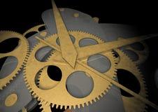 clockwork предпосылки черный Стоковое Изображение RF