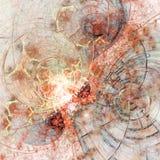 Clockwork фрактали огня тематический Стоковая Фотография RF