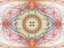 Clockwork фрактали с цветком в середине Стоковые Фотографии RF