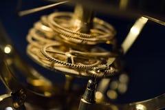 Clockwork. Closeup of clockwork gears, shallow depth of field royalty free stock photo