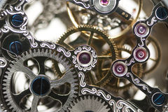 Clockwork. Close up of a mechanical clockwork Stock Images