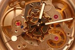 Clockwork. Close up of a mechanical clockwork royalty free stock image