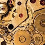 Clockwork. Of wristwatch super macro sepia toned stock image