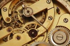 Clockwork. Old clockwork inside view with gear wheel royalty free stock photo