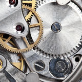 Clockwork. Of wristwatch super close up stock image