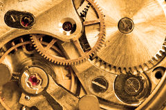Clockwork. Of wristwatch super close up stock images