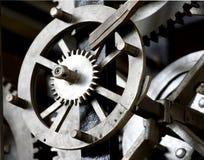 Clockwork. Photo of an internal mechanism of a pendulum clock Royalty Free Stock Photography