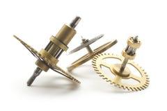Clockwork. Group of clockwork gear macro isolated on white stock photo