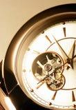 Clockwork. Inside angle view of the clockwork stock image