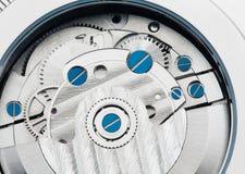 Clockwork. Macro-Shoot of a clockwork from a wristwatch stock photography