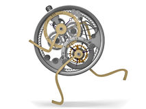 Clockwork. The image of a steel beautiful clockwork Stock Images