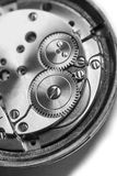 Clockwork in black and white Stock Photography