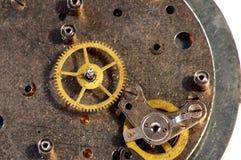 clockwork blanc au moment de l'exécution d'isolement par concept de fond images libres de droits