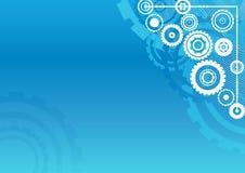 Clockwork blue background Stock Photo