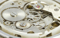 Clockwork close up. Hours close up. See my other works in portfolio Stock Photo