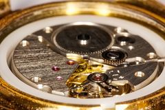 Clockwork close-up Royalty Free Stock Photography