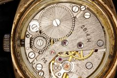Clockwork close-up Royalty Free Stock Image