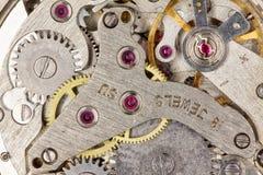 Clockwork close-up Stock Photography