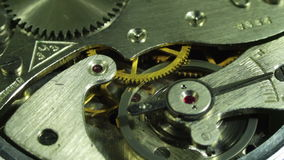 Clockwork close-up stock footage