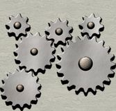 Clockwork cogs and gears Stock Photography
